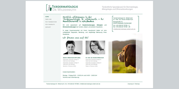 Webseiten Design, Praxismarketing, Online-Marketing, Wildermuth