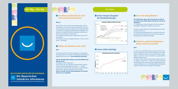 Kassenzahnärztliche Vereinigung Bayern, München, Corporate Design, Design Flyer, Poster