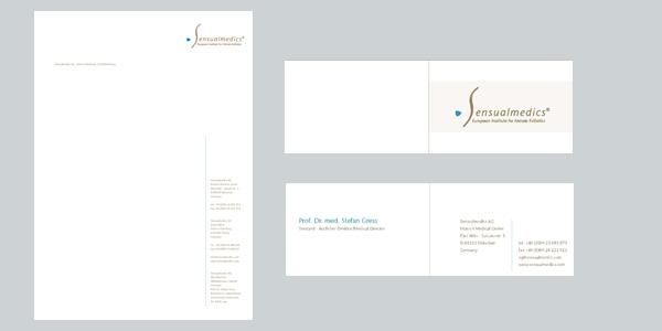 Geschäftsausstattung, Visitenkarten für Sensualmedics