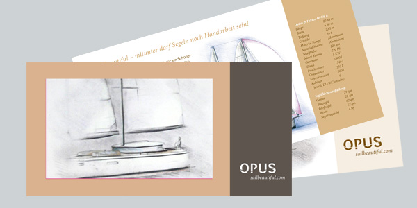 Marketingberatung, Corporate Design, Imagebroschüre Fa. Opus