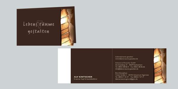 Corporate Design, Visitenkarten, Geschäftsaustattung Fa. Kintscher