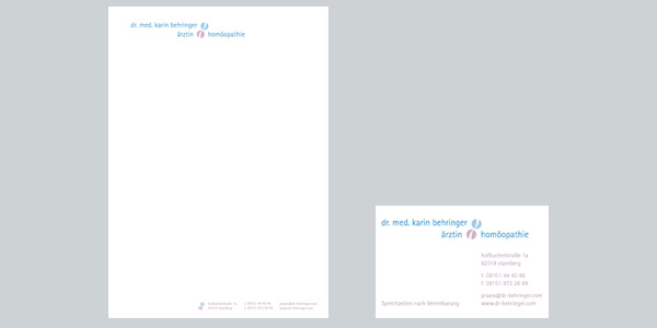 Corporate Design, Visitenkarte, Briefpapier
