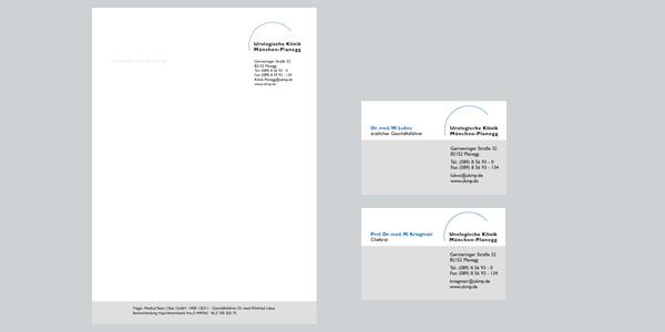 Urologische Klinik München, Marketingberatung  Corporate Design, Logoentwicklung, Design, Imagebroschüre, Geschäftsausstattung